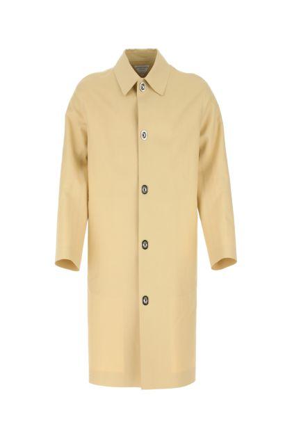 Cream cotton overcoat