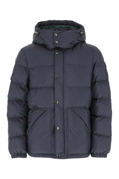 Navy blue polyester down jacket