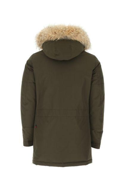 Army green cotton blend Polar down jacket