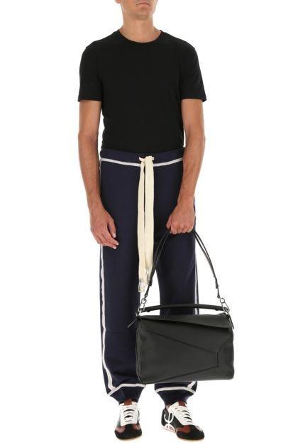 Black leather large Puzzle handbag