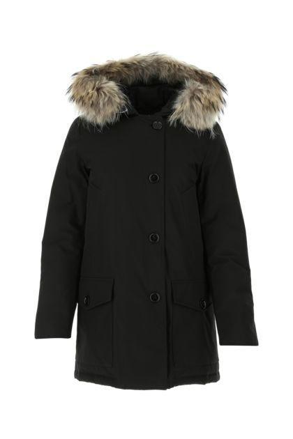 Black cotton blend Arktic down jacket