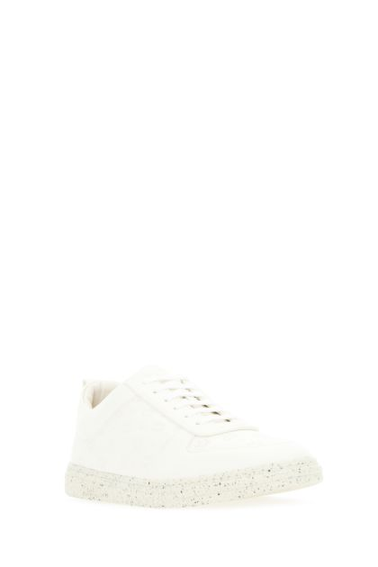 Ivory leather sneakers