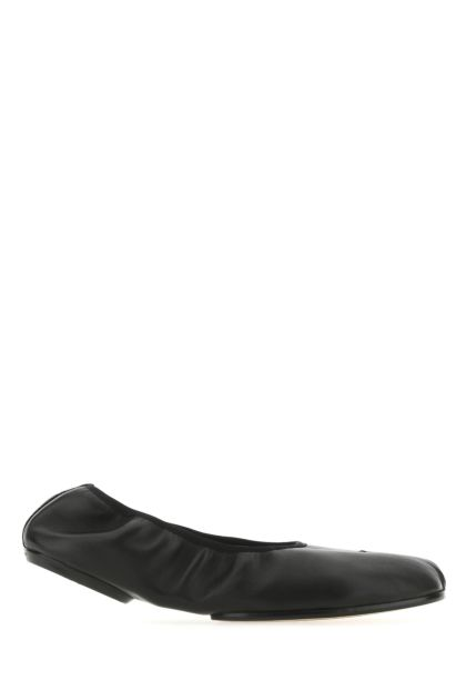 Black nappa leather Tabi loafers