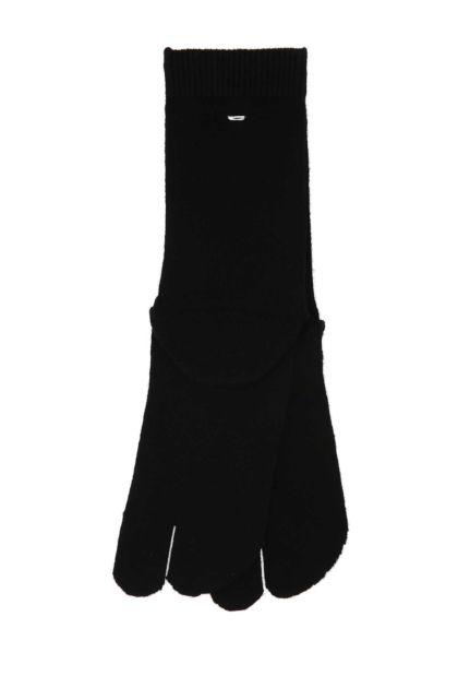 Black stretch cotton Tabi socks