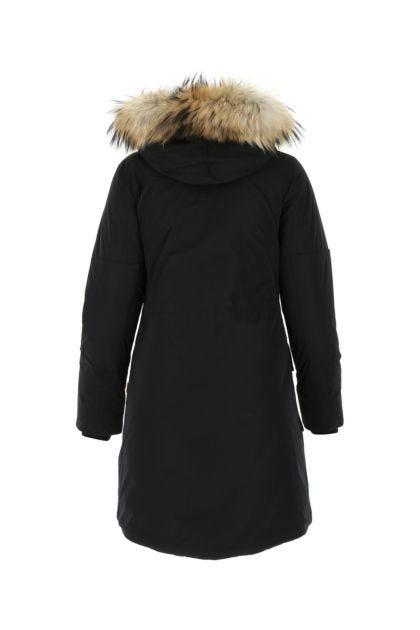 Black polyester down jacket
