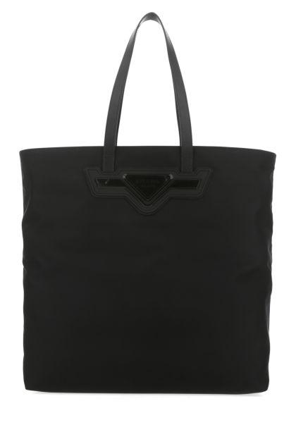 Black nylon shopping bag