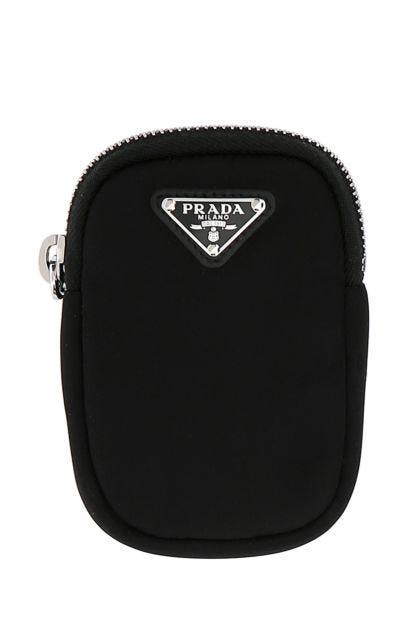 Black nylon mini compartment