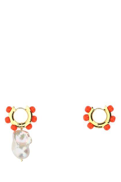 Embellished metal Jan earrings