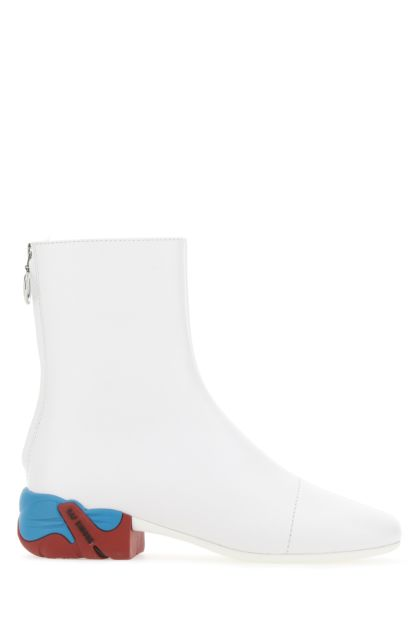 White leather Solaris boots
