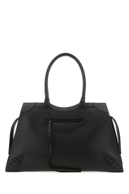 Black leather large Classic handbag