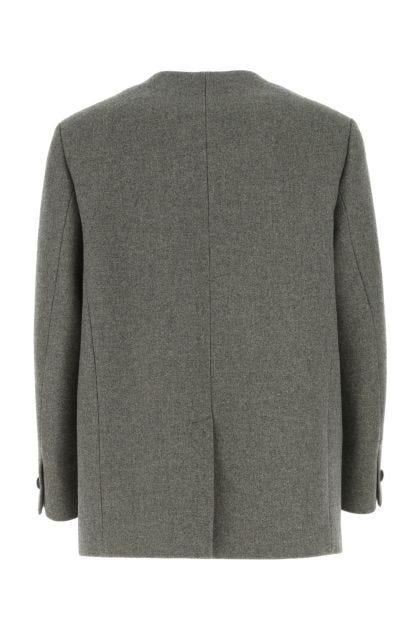 Grey blend wool coat