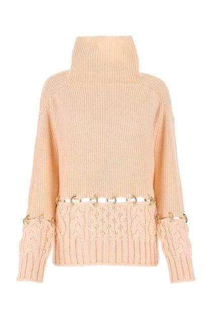 Skin pink wool sweater