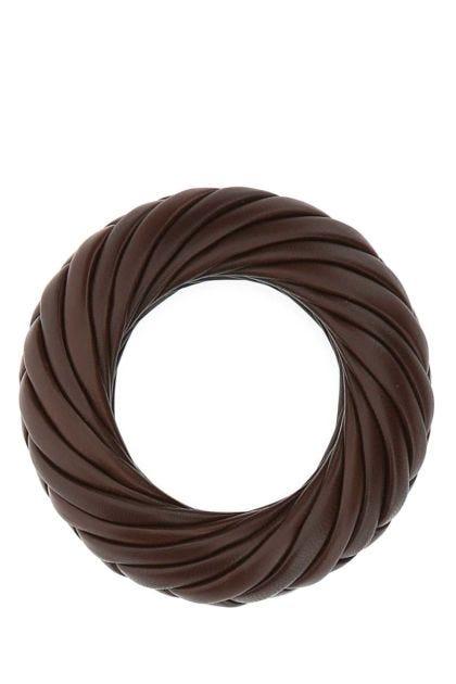 Chocolate nappa leather bracelet