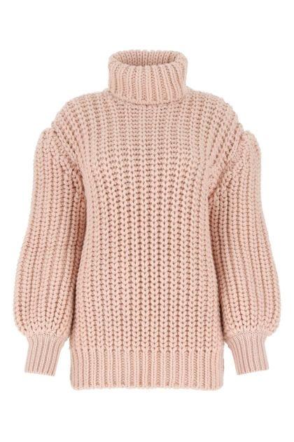 Powder pink wool sweater