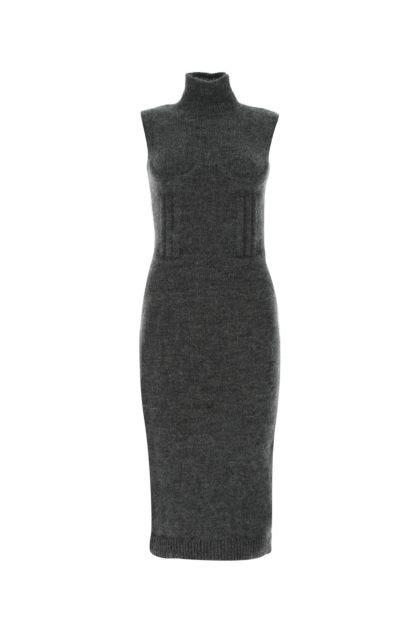 Charcoal cashmere blend dress