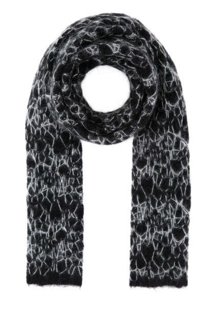 Two-tone mohair blend scarf