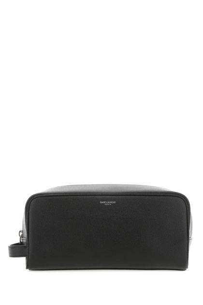 Black leather beauty case
