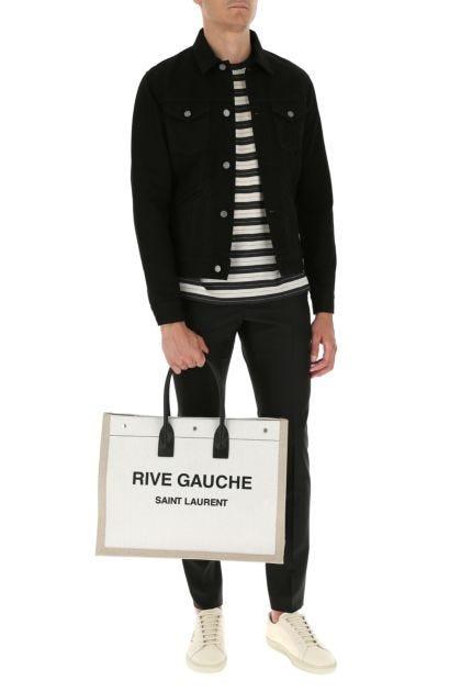 Two-tone canvas Noe shopping bag