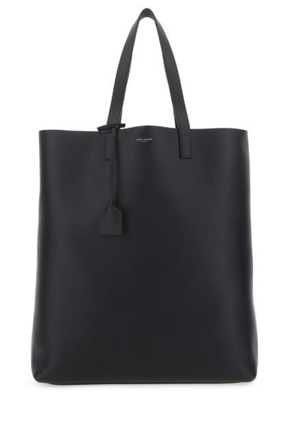 Midnight blue leather Bold shopping bag