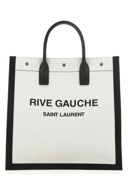 Two-tone canvas Rive Gauche shopping bag