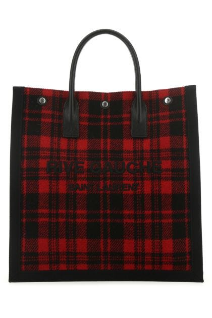 Embroidered fabric Rive Gauche shopping bag
