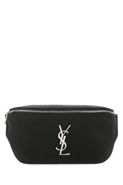 Black nylon Classic Monogram belt bag