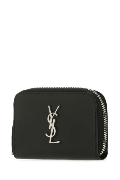 Black leather coin purse