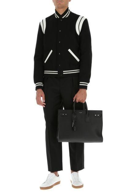 Black leather big Sac De Jour handbag