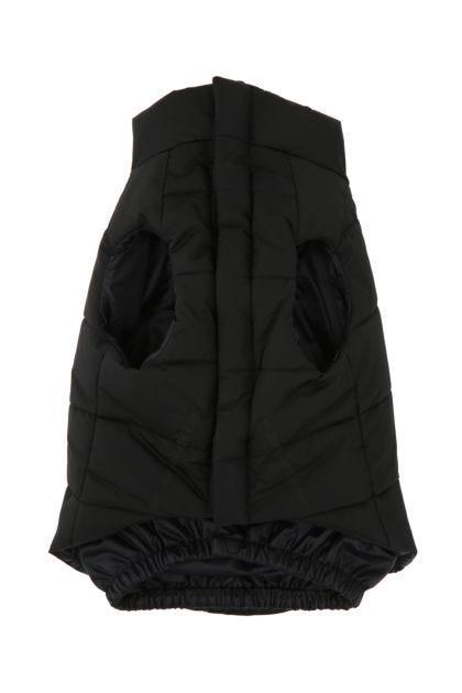 Black nylon dog padded jacket