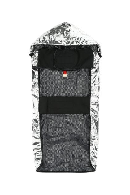 Silver nylon dog jacket