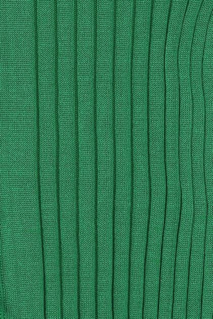 Green stretch silk collant