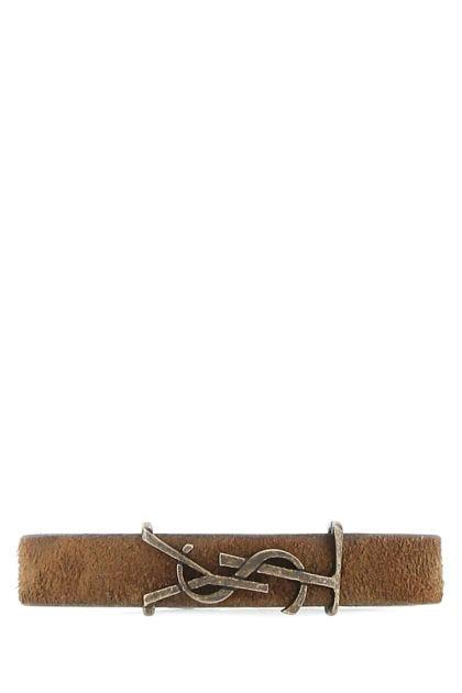 Brown suede bracelet