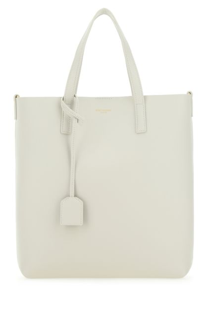 Ivory leather North/South Toy shopping bag