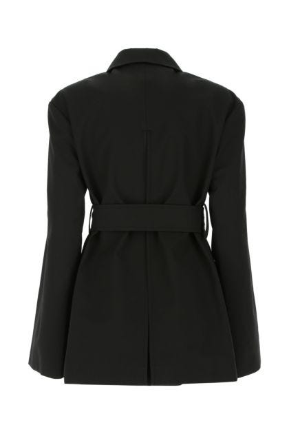 Black cotton overcoat