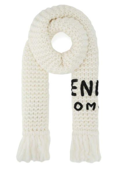 Ivory wool blend scarf