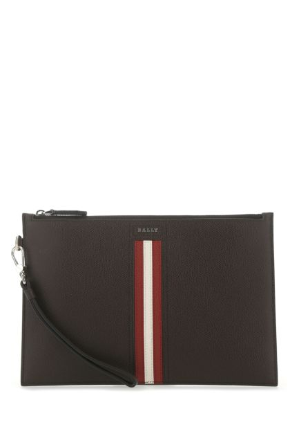 Chocolate leather Tenery clutch