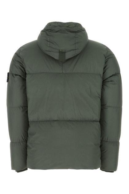 Sage green nylon down jacket