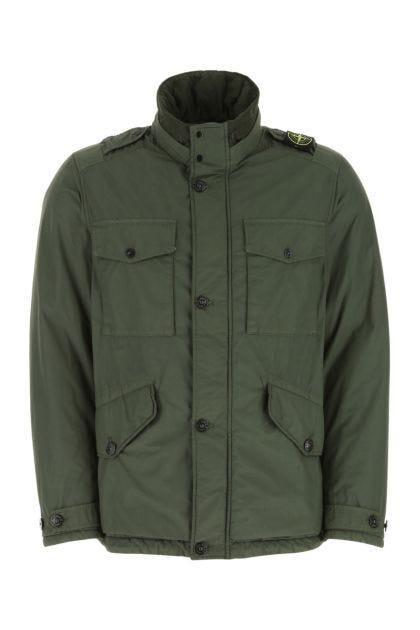 Dark green polyester padded jacket