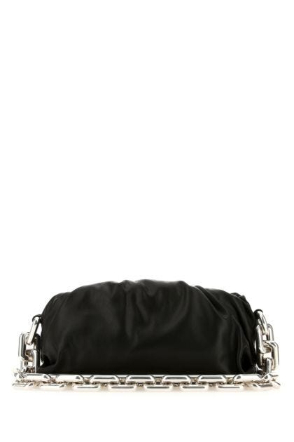 Black nappa leather Chain Pouch clutch