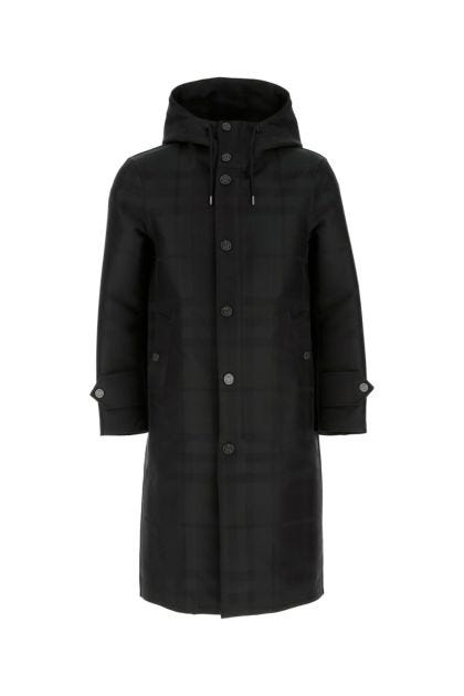 Printed cotton and polyester coat