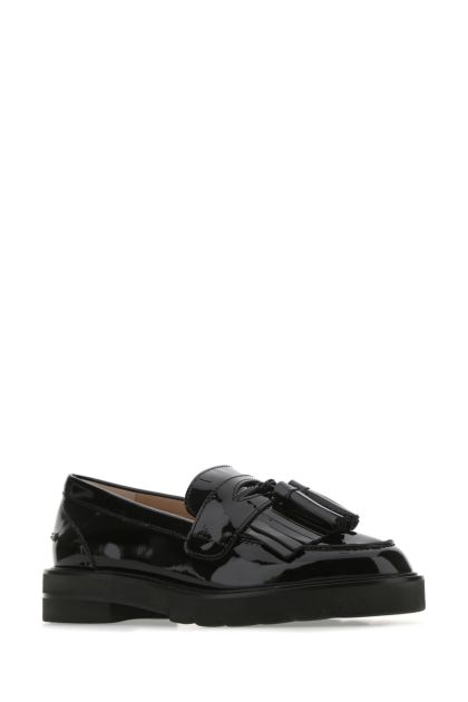 Black leather Mila loafers