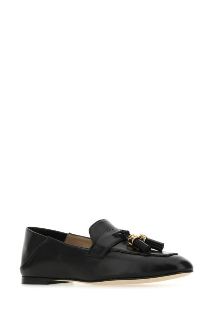 Black nappa leather Wylie Signature loafers