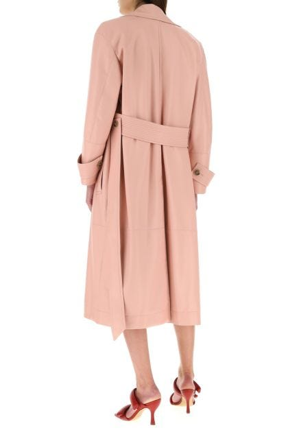 Pink synthetic leather Amal trench coat