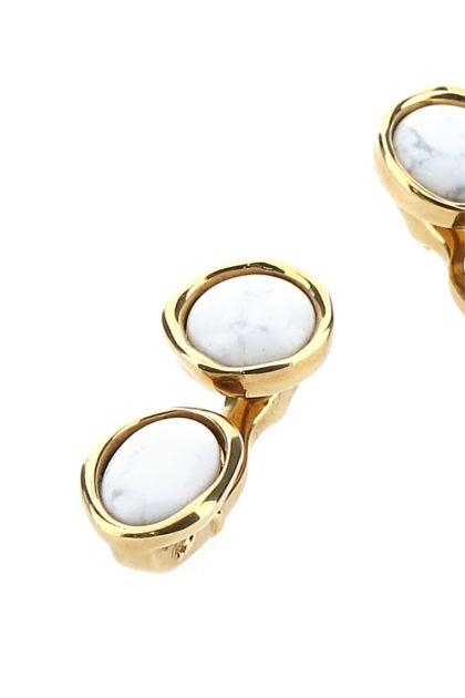 Gold metal Double Tree earrings