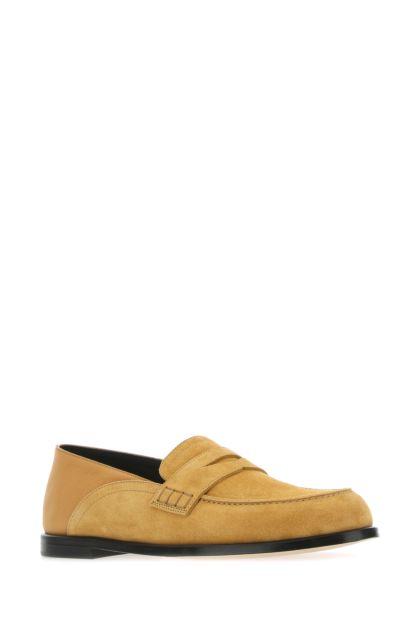 Ochre suede loafers
