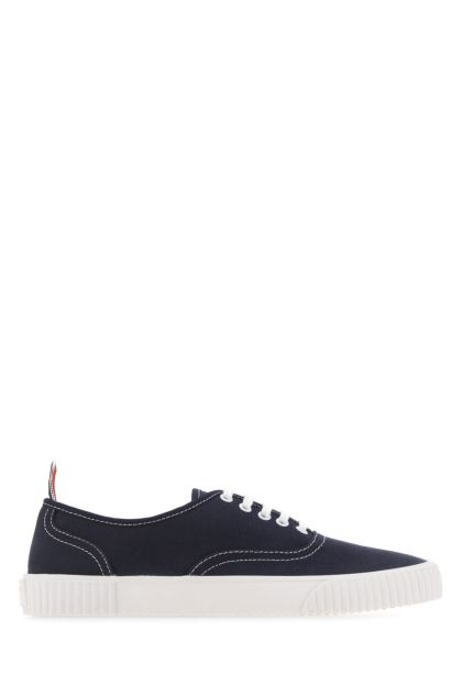 Navy blue canvas sneakers