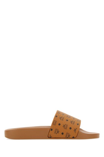 Camel canvas slippers