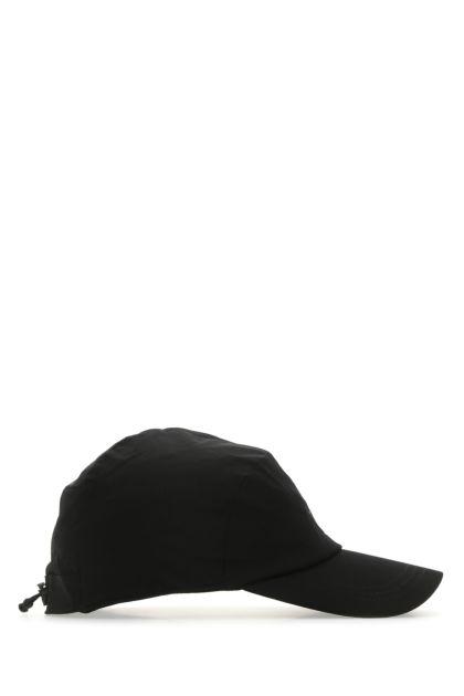 Black stretch nylon baseball cap