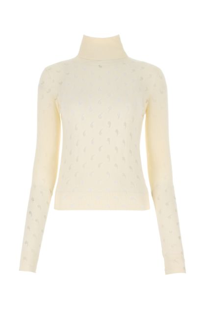 Ivory cotton blend sweater