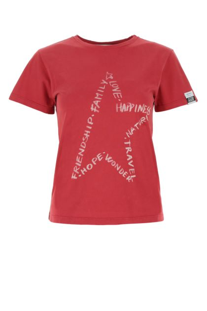 Tyran purple cotton Ania t-shirt